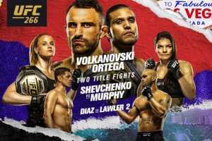 Кард турнира UFC 266