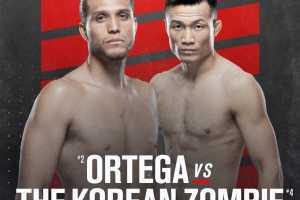 Кард турнира UFC Fight Night 180: Корейский Зомби – Ортега