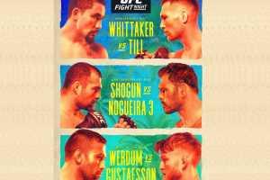 Кард турнира UFC on ESPN 14: Уиттакер – Тилл