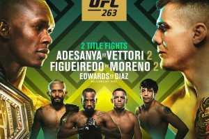 Кард турнира UFC 263