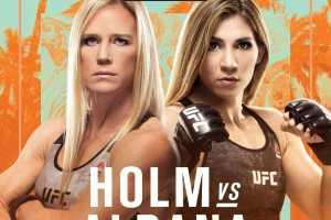 Кард турнира UFC on ESPN 16: Holm vs Aldana