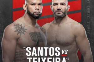 Кард турнира UFC Fight Night 182: Santos vs Teixeira