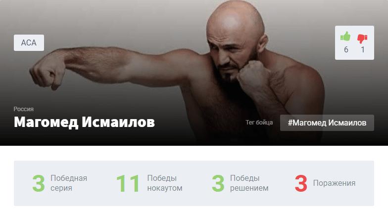 Исмаилов – Штырков когда бой